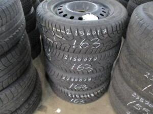 215/60 R17 MULTI-FIT RIMS W/ GENERAL  WINTER TIRES USED SNOW TIRES (SET OF 4 - $550.00) - APPROX. 80% TREAD