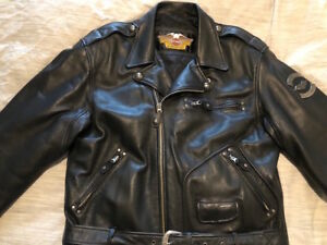 Harley Davidson Leather vintage eagle embossed riding jacket
