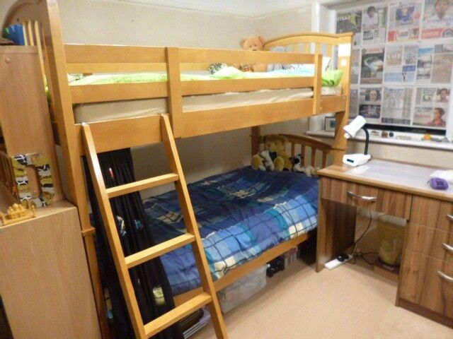 Joseph Maple Bunk Bed With Good Quality Mattresses In Stockport