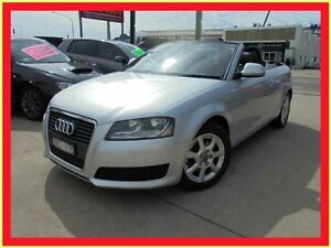 2009 Audi A3 8P MY10 TFSI Attraction Silver 7 Sports Automatic Dual Clutch Convertible Holroyd Parramatta Area Preview