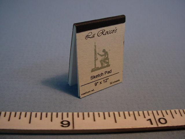 "Dollhouse Miniature Sketch Pad ""LaRocco"