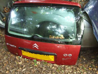 CITROEN C3 REAR TAILGATE WITH GLASS boot Breaking for parts IN gatwick area