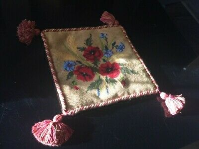 Vintage Tapestry Needlepoint Cushion Cover Petit Point