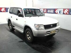 1999 Toyota Landcruiser Prado VZJ95R GXL (4x4) White 4 Speed Automatic 4x4 Wagon Cardiff Lake Macquarie Area Preview