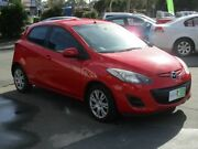 2013 Mazda 2 DE10Y2 MY13 Neo Red 4 Speed Automatic Hatchback Lawnton Pine Rivers Area Preview