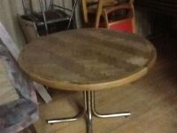 Wood and Chrome Table ***NEW Price***