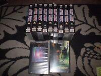 star trek 9 vintage original vhs & 2 films nemesis ,generations,