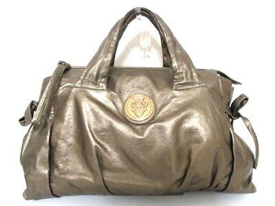 Authentic GUCCI Gold Hysteria 197021 Leather Handbag