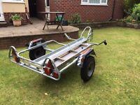 erde single motorcycle/motorcross trailer used twice £450 ono