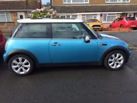 2004 Blue & White Mini Cooper - £2500 (Low Mileage for Age)