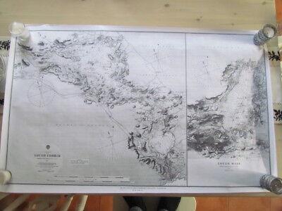 Depth Chart / Map  of Loughs Corrib & Mask , Ireland