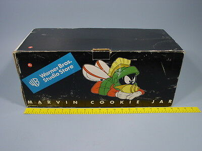 WB Warner Bros. Marvin the Martian Laying Down with a Ray Gun Cookie Jar w/Box - Marvin The Martian Ray Gun