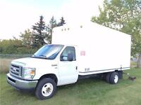 2013 Ford E-450 CUBE VAN 16 foot body w/ divider and walk ram