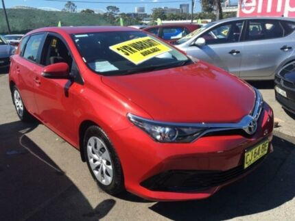 2015 Toyota Corolla ZRE182R Ascent Red 7 Speed CVT Auto 7 Speed Hatchback