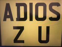 AD10 SZU . ADIOS. 2. U Registration Plate