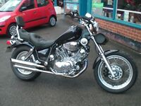 "Yamaha XV1100 Virago ""Cruiser"" S/1998 regd, 20258 miles, Blue/ chrome, Lots of extras & recent parts"