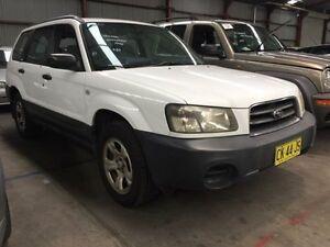 2004 Subaru Forester 79V X White Manual Wagon Sandgate Newcastle Area Preview
