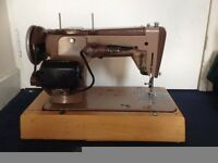 Vintage Singer 306k electric sewing machine with case