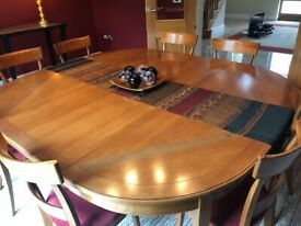 Grange Dining Table and 8 Matching Chairs - COLLECTION IMMEDIATELY