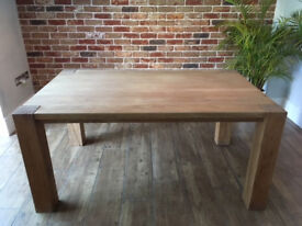 Rustic solid Oak dining table (with chairs) PICK UP ONLY