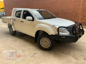 2017 Isuzu D-MAX MY17 SX Crew Cab White 6 Speed Sports Automatic Cab Chassis Campbelltown Campbelltown Area Preview