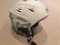 Ski helmet - adult's adjustable multi-size lightweight white ski helmet by Alpina