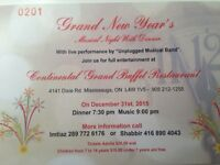New Year's Grand Music Program and Dinner Tickets