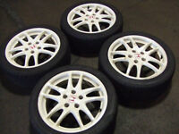 JDM ACURA RSX DC5 TYPE-R WHITE WHEELS 215/45R17 MAGS & TIRES