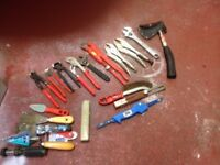 Selection of various hand tools - see pictures