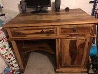 Jali Range Wooden Computer Desk