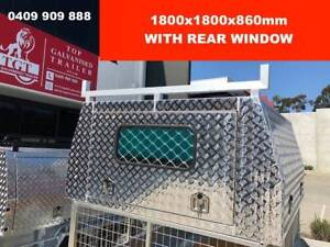 DUAL CAB JACK OFF CHECKER PLATE ALLOY CANOPY 3 DOORS Berwick Casey Area Preview