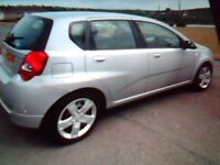 2010 chevrolet aveo ls. silver. 5 door hatchback. 1,2cc. alarm. M.O.T. feb 2019. e/w p/s CD player.