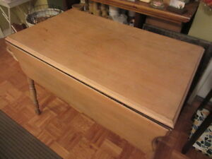 Early Pine Drop Leaf Table from Mahone Bay..