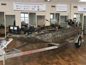 2013 EXCEL F4 -MUD BOAT! 17 1/2 FT! WINCH! MUD BUDDY MOTOR!