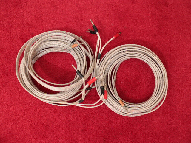 QED Silver Anniversary Bi-Wire Speaker Cable Two x Eight Meters Linn ...
