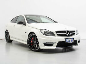 2012 Mercedes-Benz C63 W204 MY12 AMG White 7 Speed Automatic G-Tronic Coupe Jandakot Cockburn Area Preview