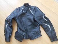 Hein Gericke ladies leather Motor bike Jacket Size 6 (34)
