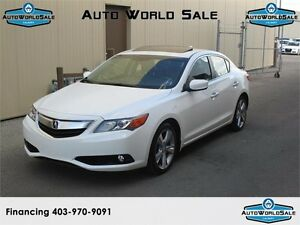 2013 ACURA ILX-Tech Pack-NAVI-White with Black