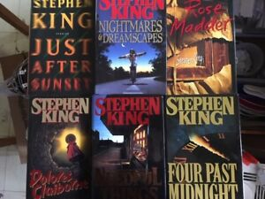 STEPHEN KING hardcover books for sale - 6 books in total - $25.
