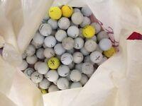 mixed bag of used golf balls - around 100
