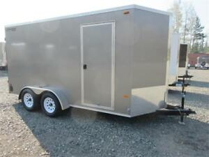 7' x 14' V-NOSE WITH EXTRA HEIGHT & BARN DOORS