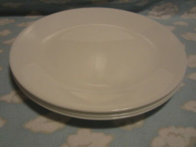 CORELLE/CORNING=WINTER FROST WHITE DINNER PLATES=SET OF FOUR=ALL TO GO ONE PRICE