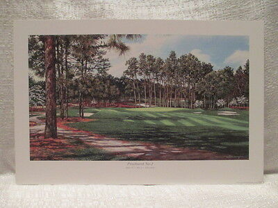William Mangum Pinehurst No 2 Hole 15 Par 3 206 Yards Golf Lithograph