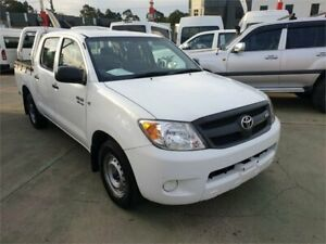 2008 Toyota Hilux GGN15R 08 Upgrade SR White 5 Speed Automatic Dual Cab Pick-up Granville Parramatta Area Preview