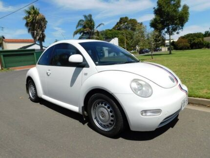 2000 Volkswagen Beetle 9C Coupe White 5 Speed Manual Liftback Somerton Park Holdfast Bay Preview
