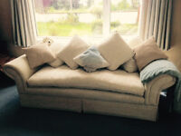 3 seater sofa, large armchair and foot rest.