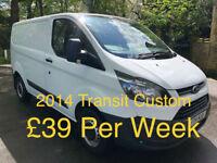 £168.93 PER MONTH 2014 FORD TRANSIT CUSTOM 2.2TDCi ECOnetic 270 L1H2 DIESEL