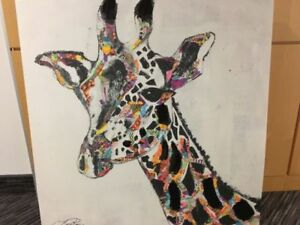 Large Multi Colored Animal Painting
