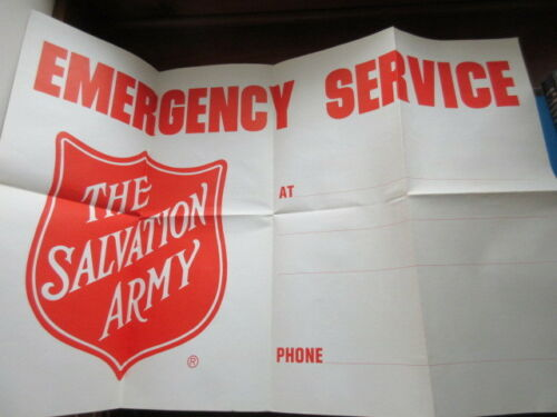 Salvation Army - VINTAGE POSTER - EMERGENCY SERVICE CAMPAIGN