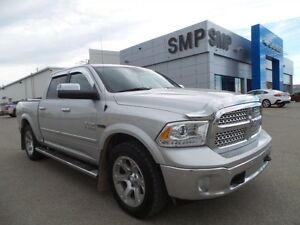 2015 Ram 1500 Laramie 3.0L ECO DIESEL, Leather, Sunroof, Nav, PS